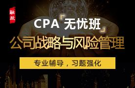 2018年CPA无忧班(精讲+习题)--公司战略与风险管理