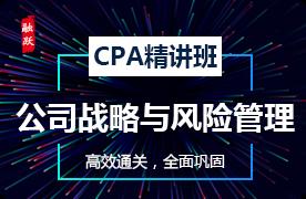 2018年CPA精讲班--公司战略与风险管理