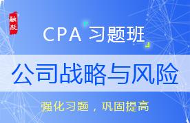2018CPA公司战略与风险习题班