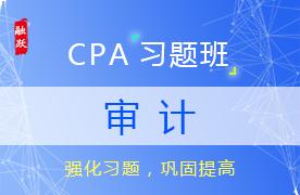 2018CPA审计习题班