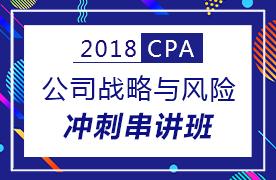 2018CPA公司战略与风险冲刺串讲班